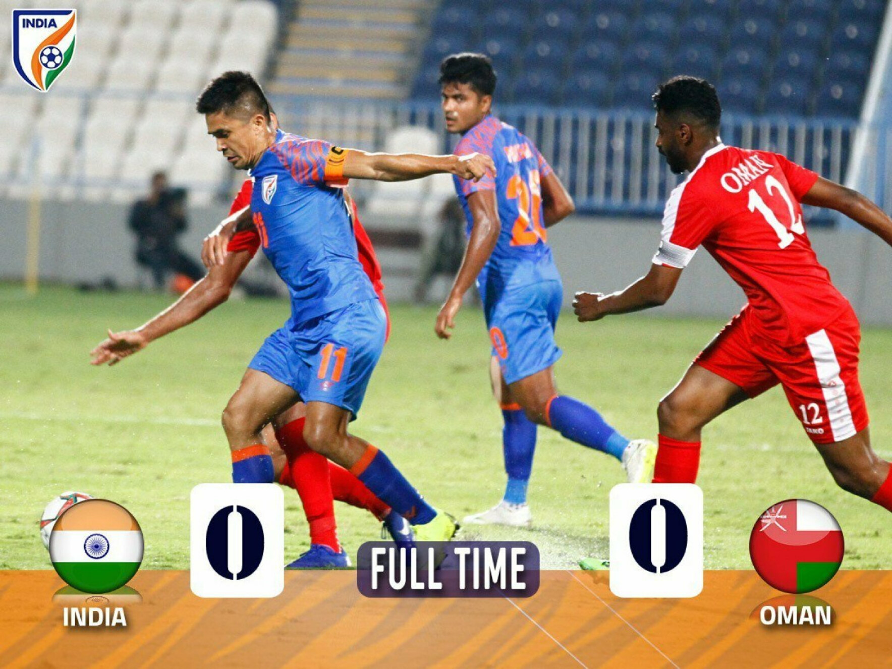 Resilient India hold Oman for a goalless draw