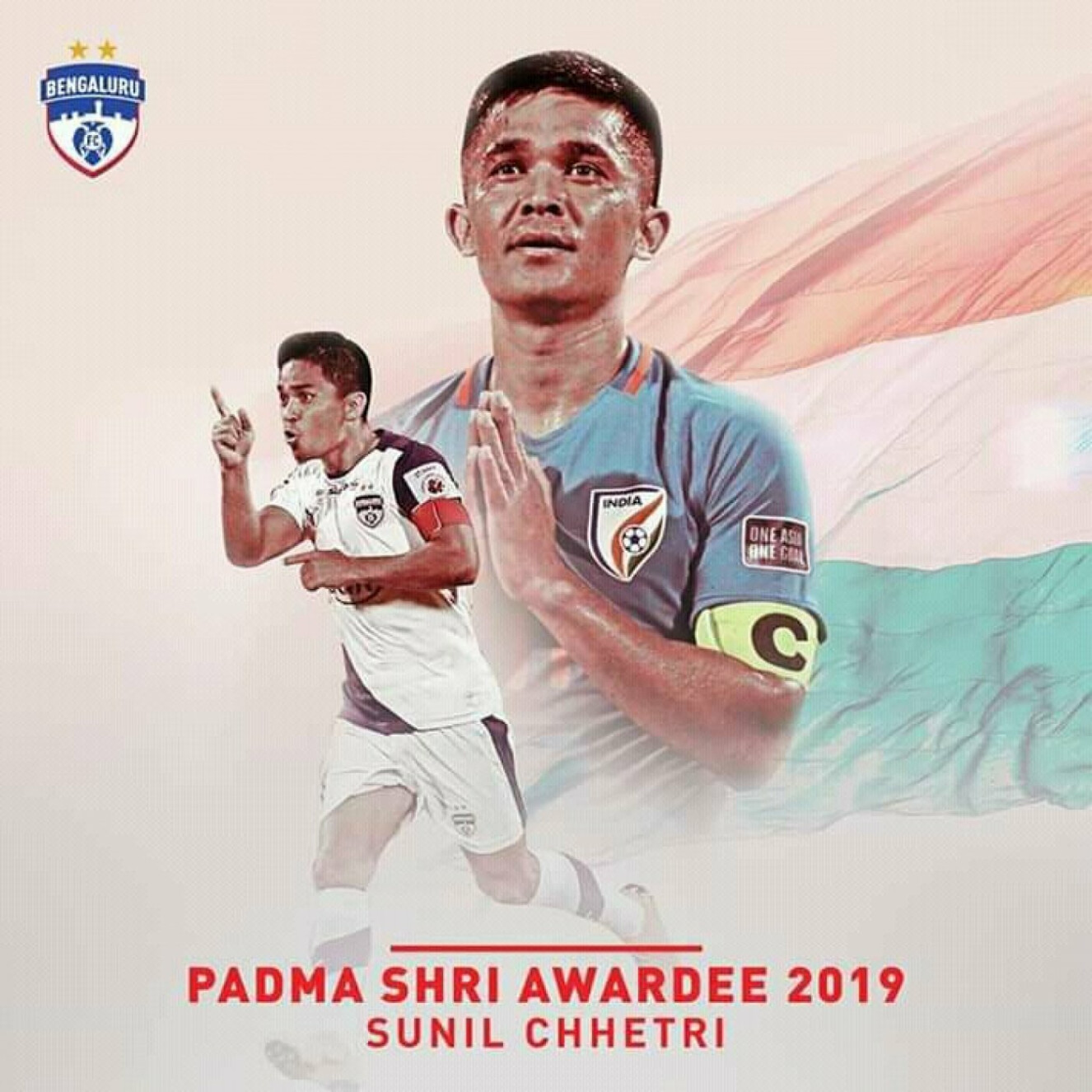 Sunil Chhetri awarded the Padma Shri Award