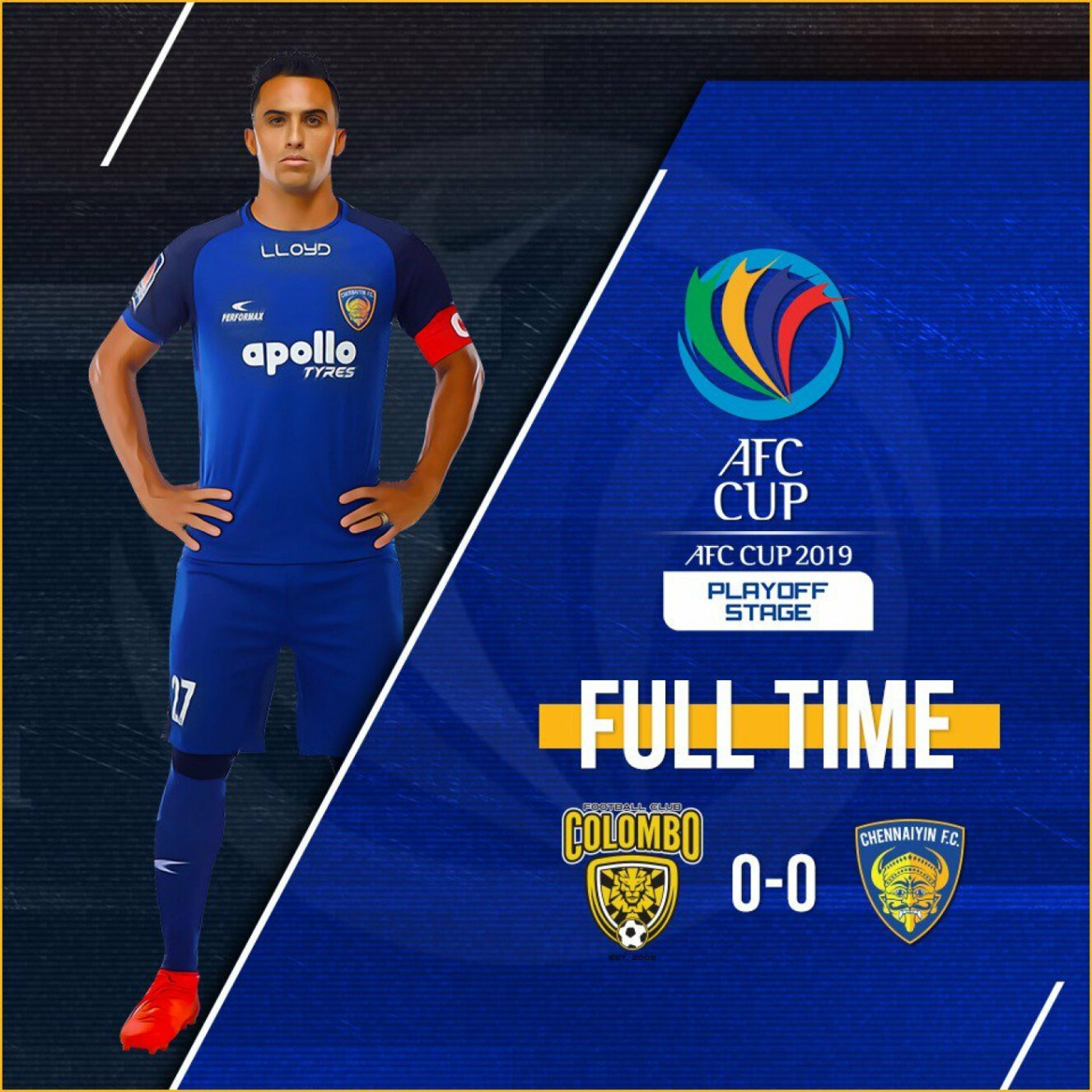 AFC Cup: Chennaiyin and Colombo play out a goalless draw.