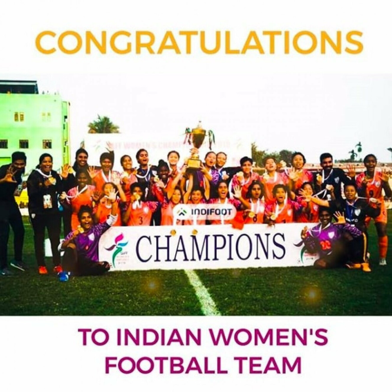 SAFF Women's Championship 2019: India lift the cup with win over Nepal.