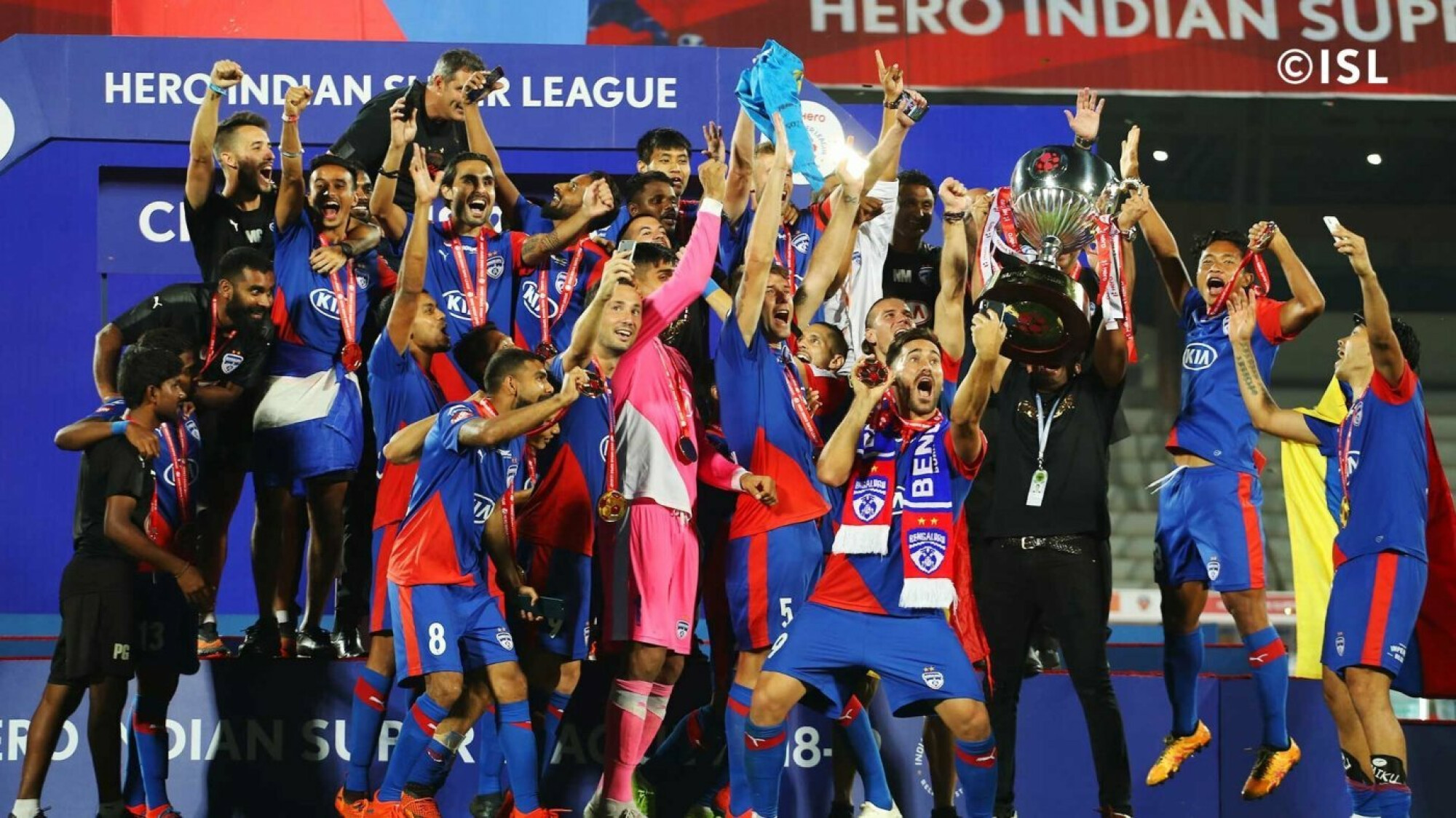 Bengaluru FC stamp their dominance all over the ISL as they finally lift the title.