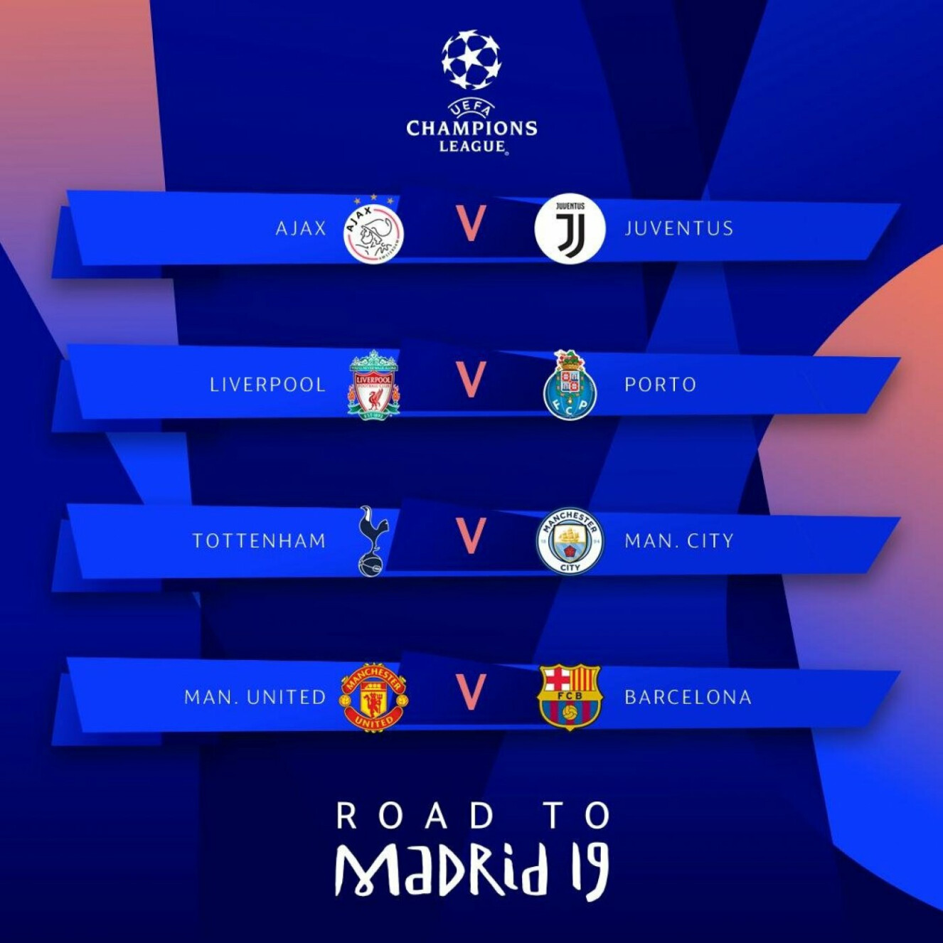 Champions League quarterfinals draw: Man City get Tottenham, while Barcelona draw Man Utd