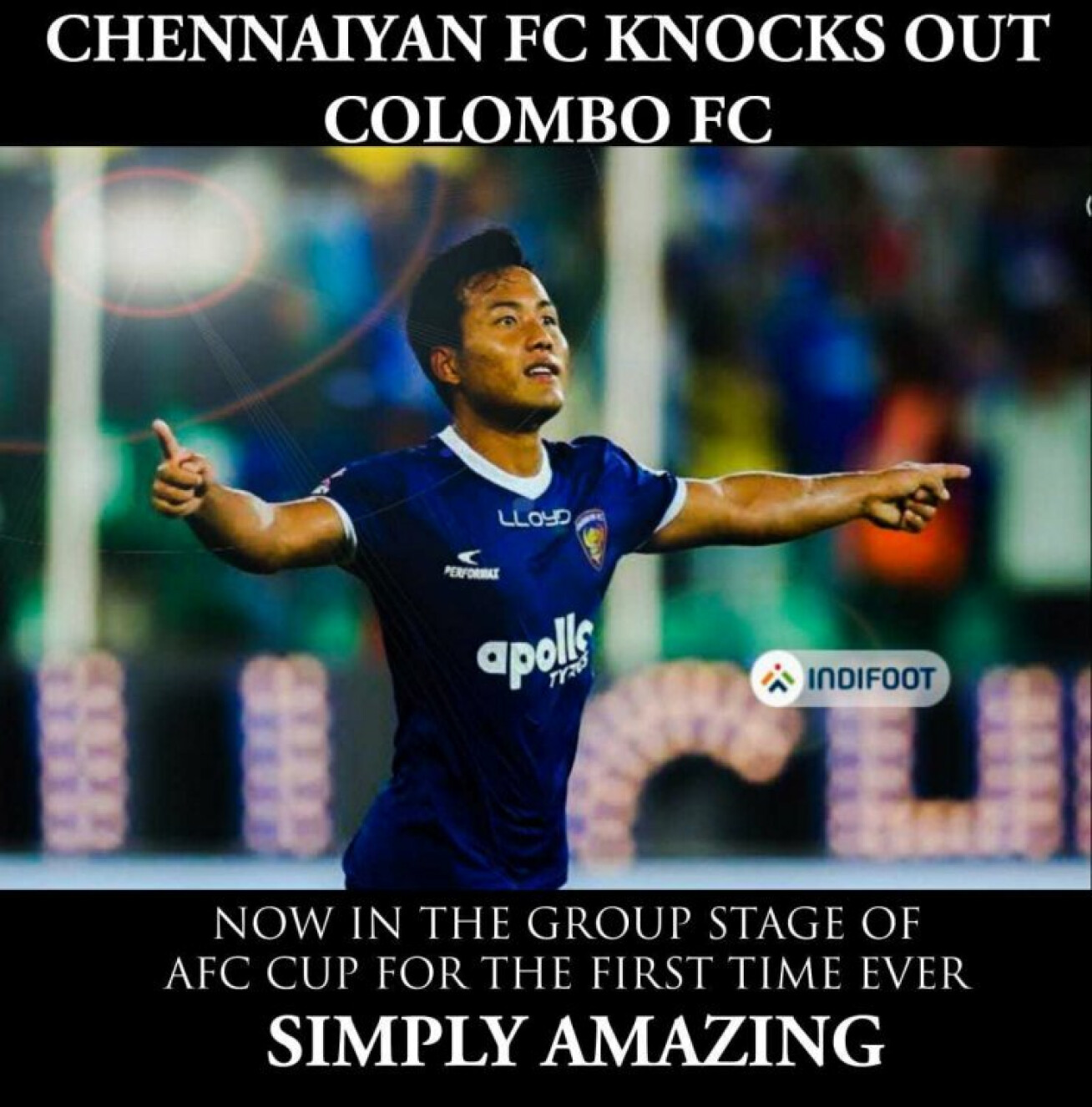 AFC Cup: Jeje inspired-Chennaiyin defeat Colombo to march into the group stage.
