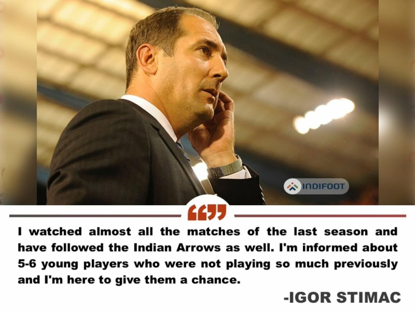 """""""The main objective of any nation is to qualify for the FIFA World Cup"""" - Igor Stimac"""