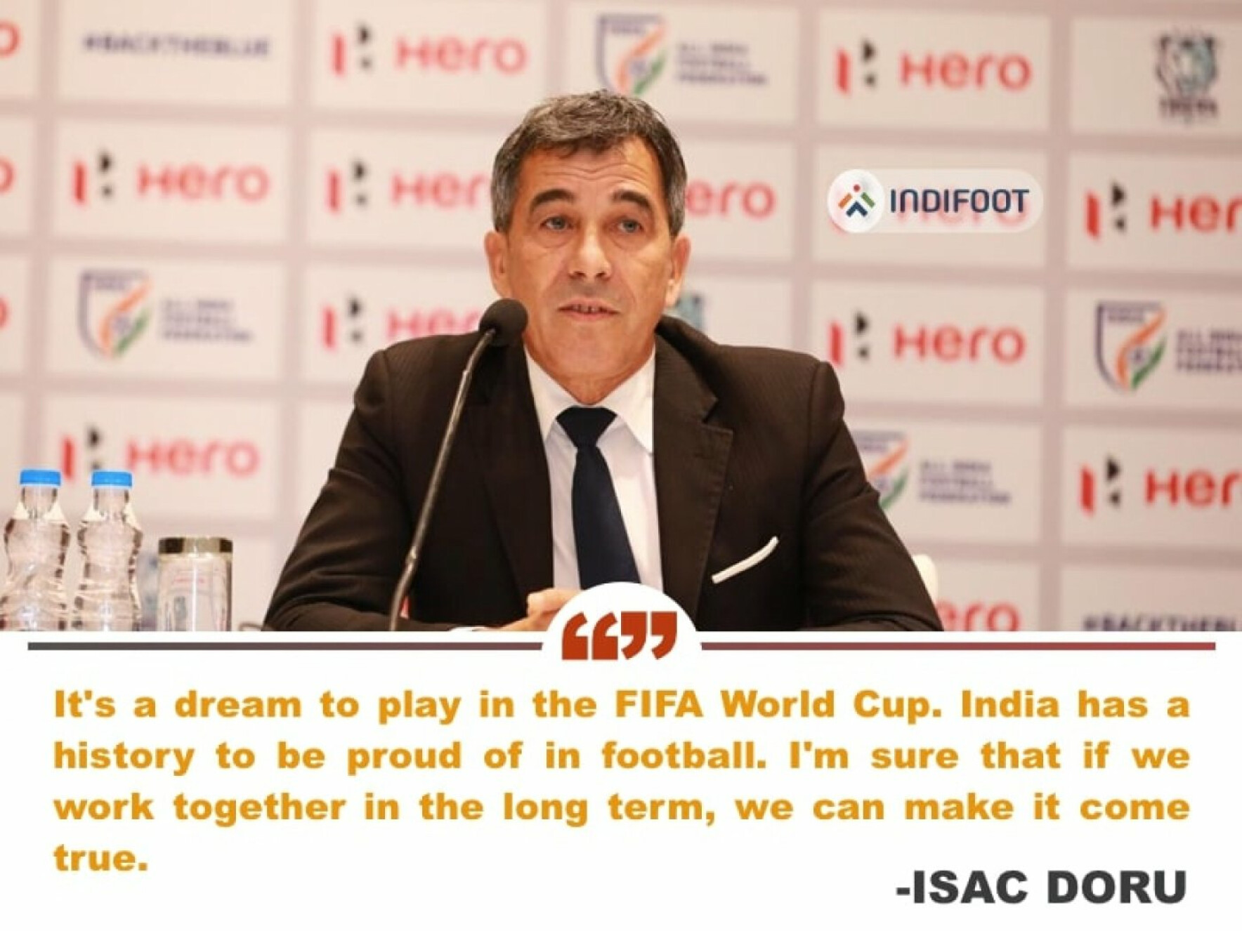 """Our major objective is to play in World Cup"" - Technical director Isac Doru"
