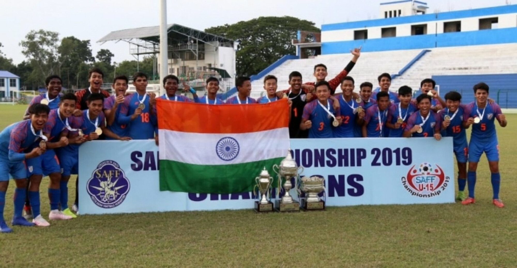 SAFF U-15 Championship 2019: India trounce Nepal to win the tournament