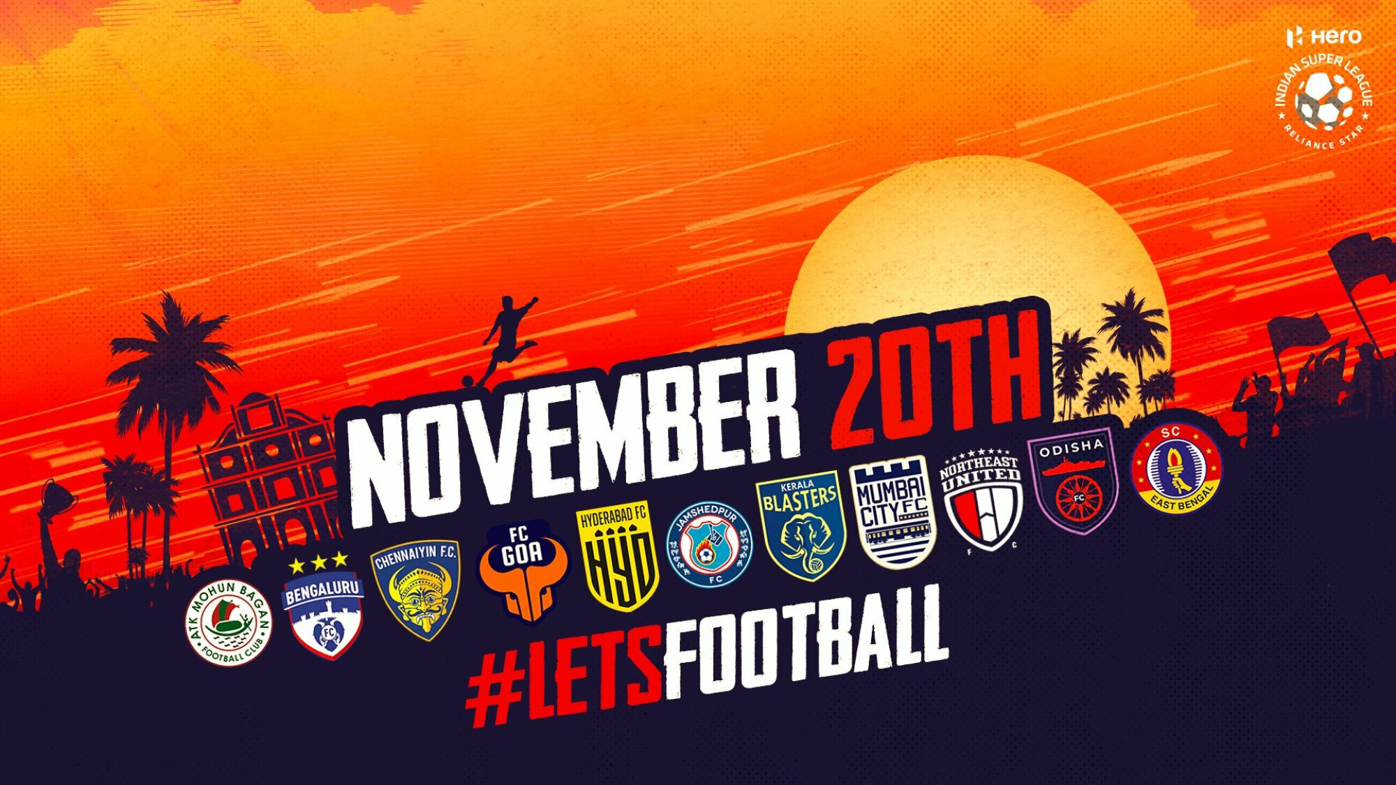 Indian Super League to begin in mid-November.