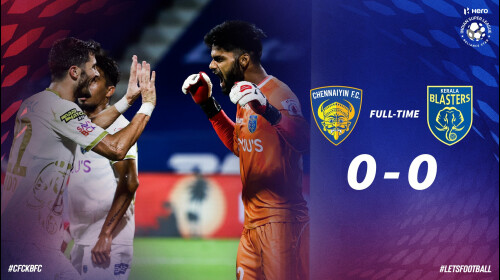 ISL 2020-21 Chennaiyin FC vs Kerela Blasters FC: Kerala survive a scare to earn a point