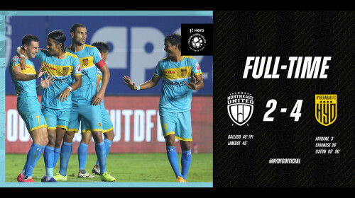 ISL 2020-21 Hyderabad FC vs NorthEast United FC: Hyderabad overcome NorthEast United in a six-goal thriller.