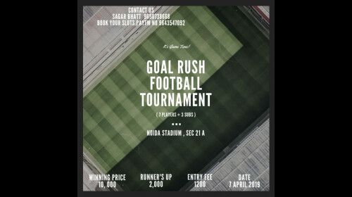 GOAL RUSH FOOTBALL TOURNAMENT