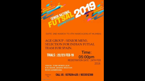 SENIOR NATIONAL FUTSAL COMPETITION 2019